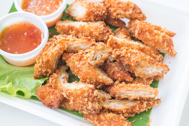 Fried Breaded Chicken profondo immagini stock