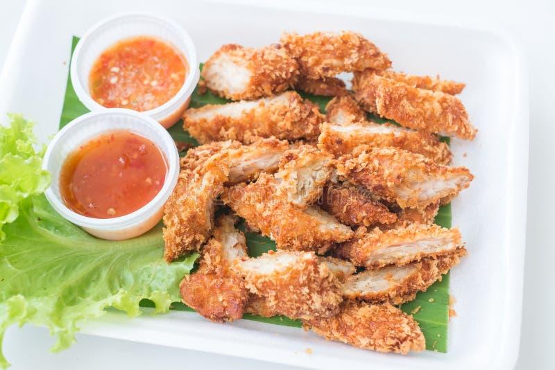 Fried Breaded Chicken profondo immagine stock libera da diritti