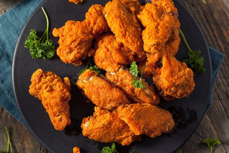 Fried Breaded Chicken Wings profondo piccante immagine stock