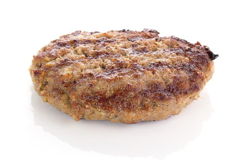 Fried Burger Beef Patty fotografia de stock
