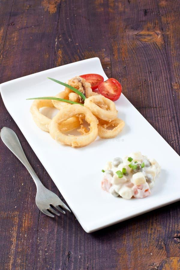 Fried Calamari lizenzfreies stockbild