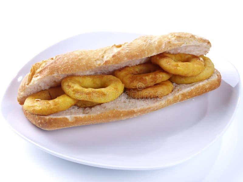 Fried Calamari Sandwich. royalty free stock images
