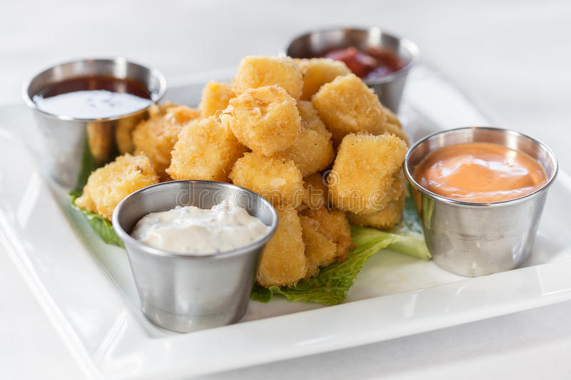 Fried Cheese Curds images libres de droits