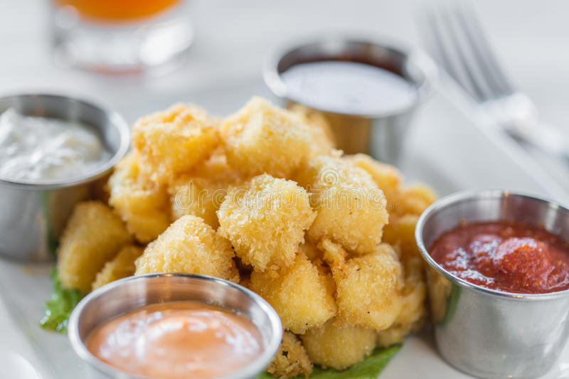 Fried Cheese Curds images stock