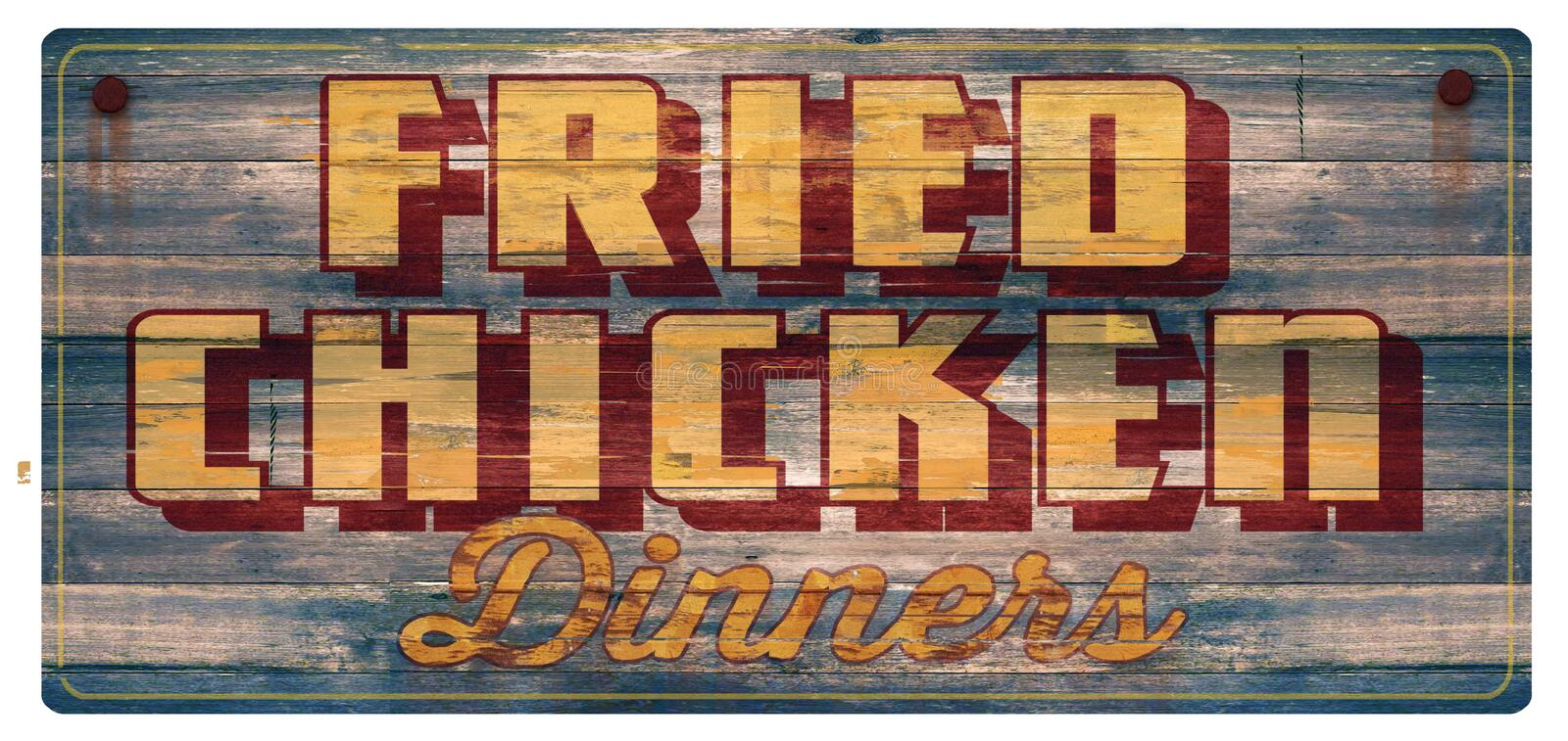 Fried Chicken Dinners Sign vector illustration