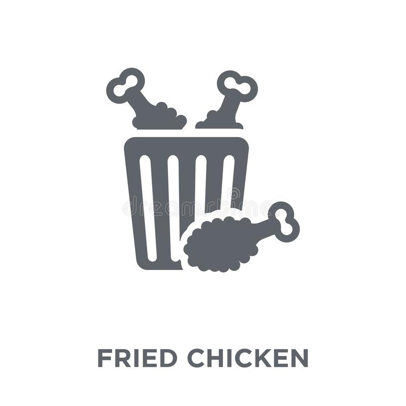Fried chicken icon from Restaurant collection. royalty free illustration