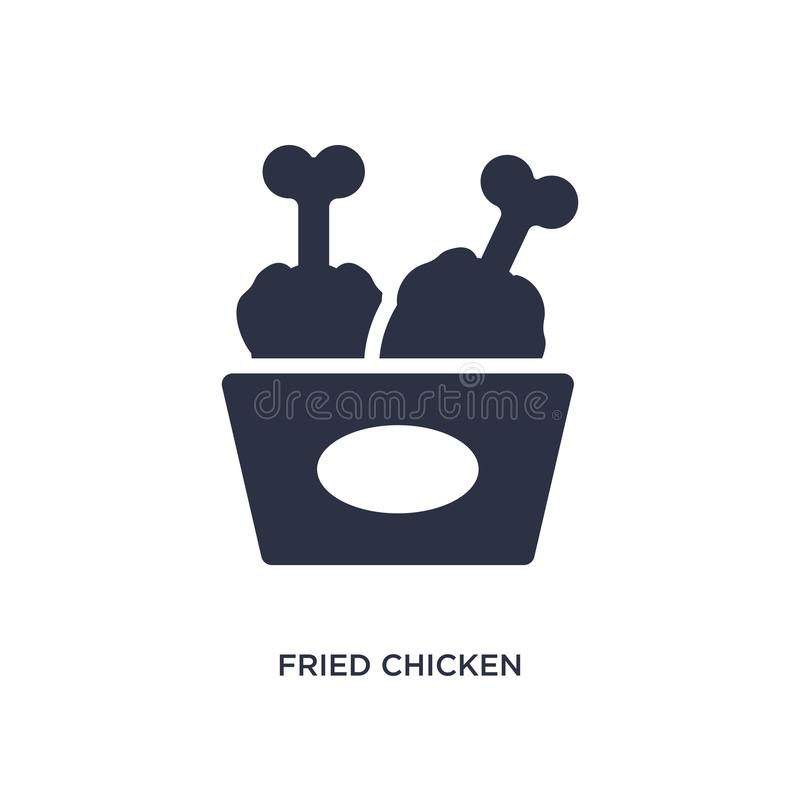 fried chicken icon on white background. Simple element illustration from fast food concept vector illustration