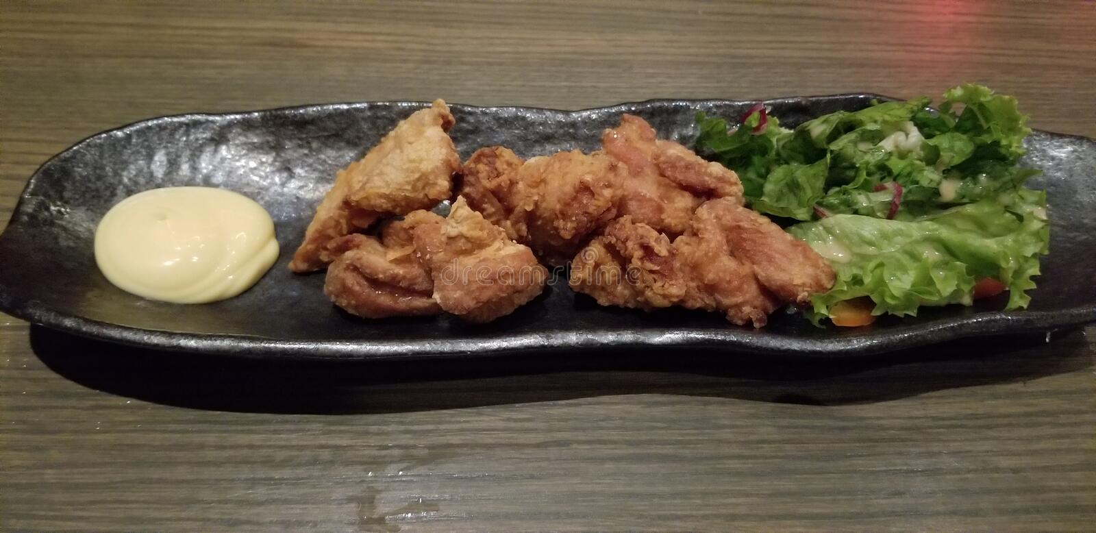 Fried Chicken Karage japonês imagem de stock royalty free