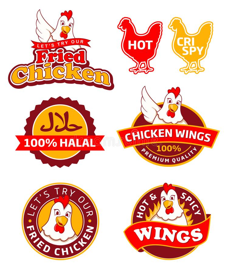 Fried chicken label. In eps format royalty free illustration