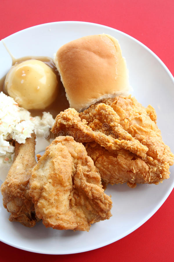 Fried Chicken Meal Royalty Free Stock Photography