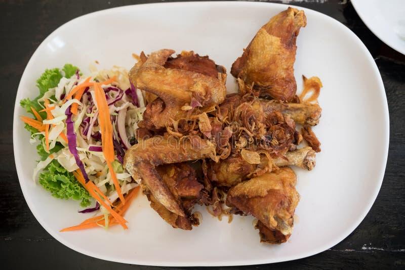 Fried Chicken med fisksås royaltyfria foton