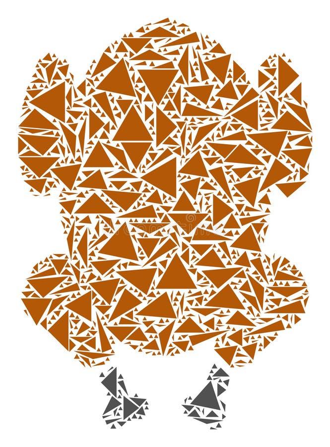 Fried Chicken Mosaic dos triângulos ilustração stock