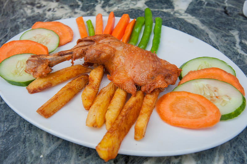 Fried chicken from Nepal. Delicious fried chicken from Nepal royalty free stock photo