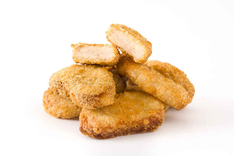 Fried chicken nuggets stock photo