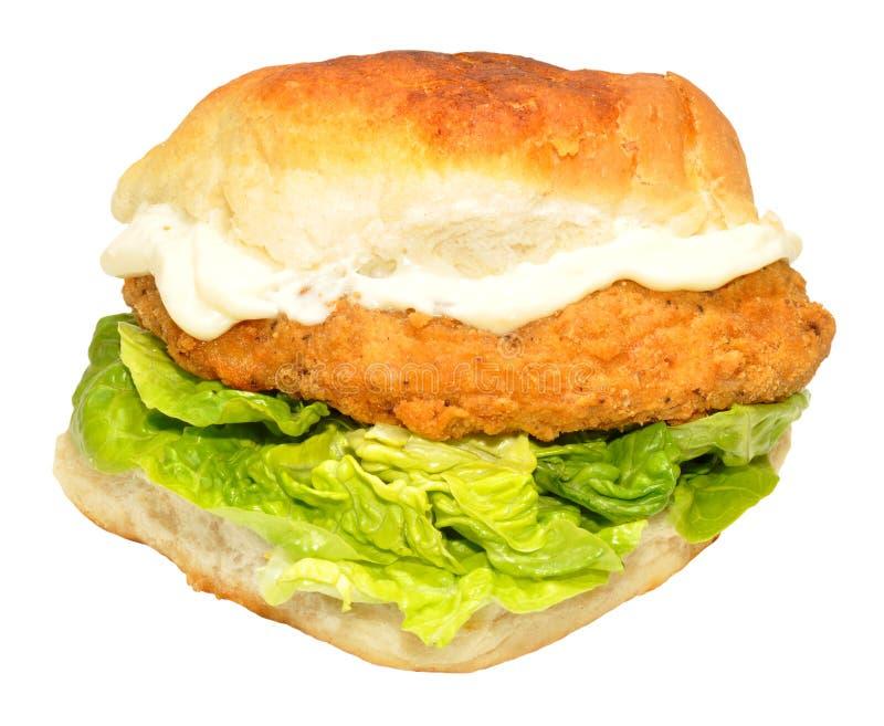 Fried Chicken Sandwich del sud fotografia stock libera da diritti