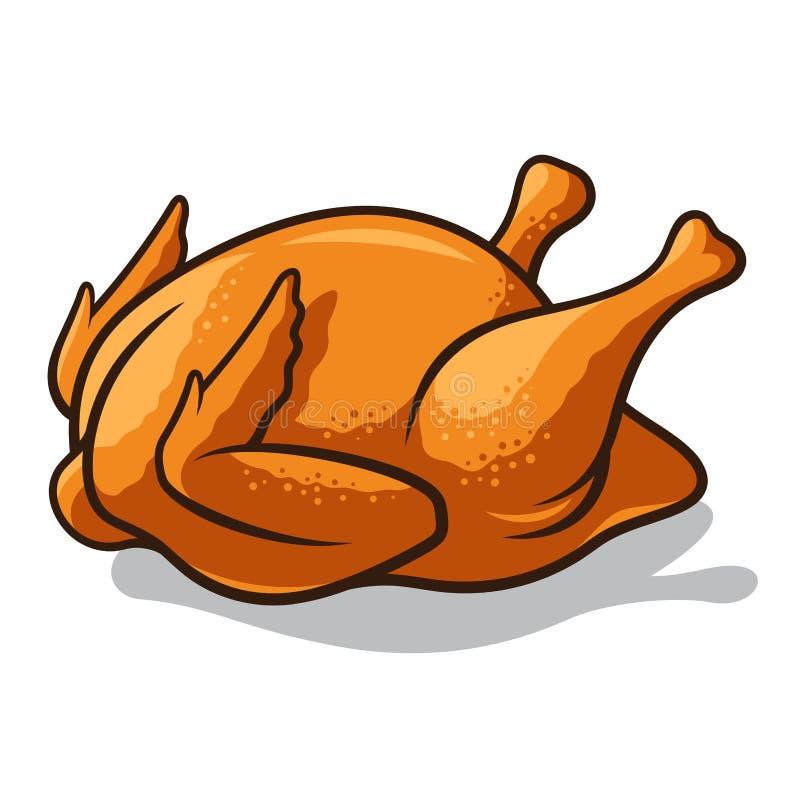 Roast Chicken Hand drawn Colored Vector Icon — Stock ...  Roast Chicken Vector