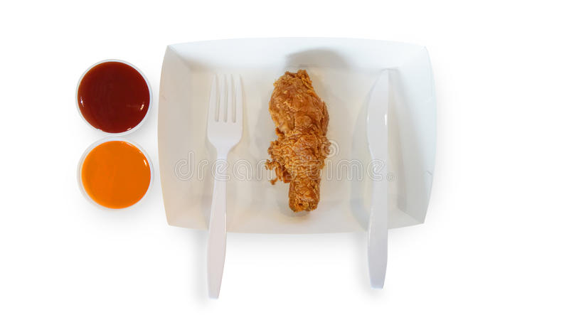 Download Fried Chicken Wing On Paper Plate Isolate On White Background Stock Image - Image of  sc 1 st  Dreamstime.com & Fried Chicken Wing On Paper Plate Isolate On White Background Stock ...