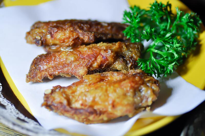 Fried chicken ,chicken wings royalty free stock images
