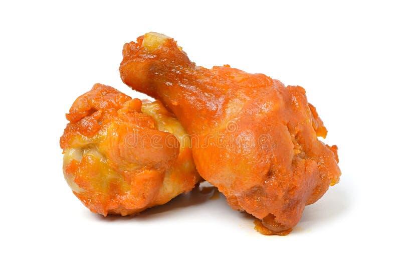 Fried Chicken Wings no fundo branco foto de stock royalty free