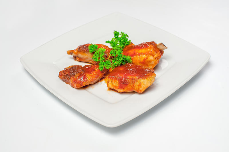 Fried chicken wings. Studio photo royalty free stock photo