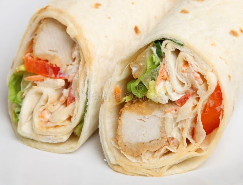 Fried Chicken Wrap Sandwich du sud photo libre de droits
