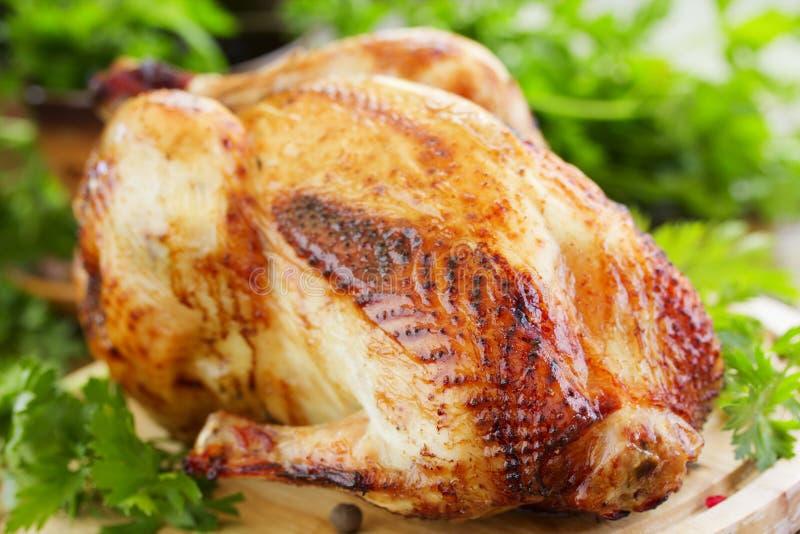 Fried chickenin. Honey glaze. festive dish royalty free stock image