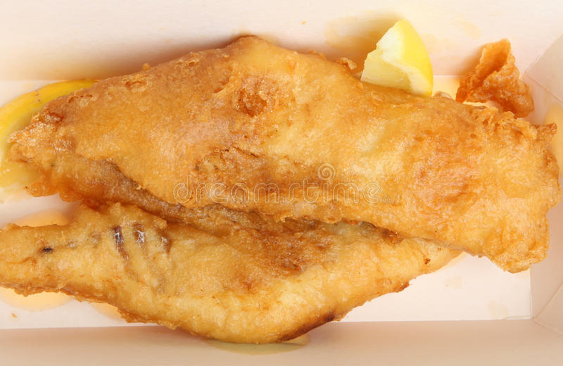 Fried Cod Fish na massa fotos de stock royalty free