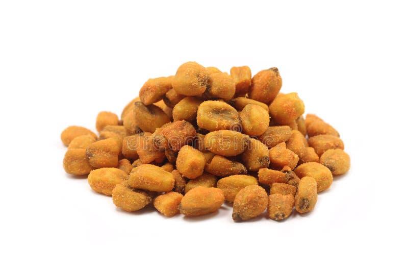 Fried corn grain stock photo