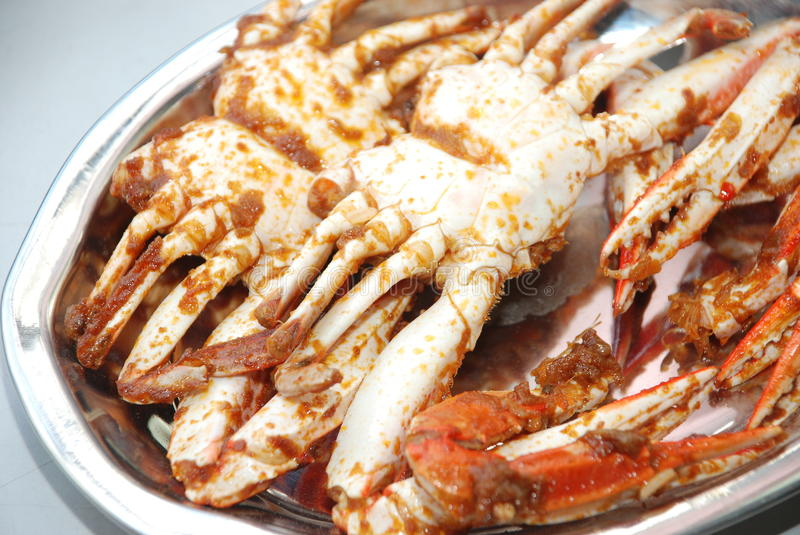 Fried crabs royalty free stock photo