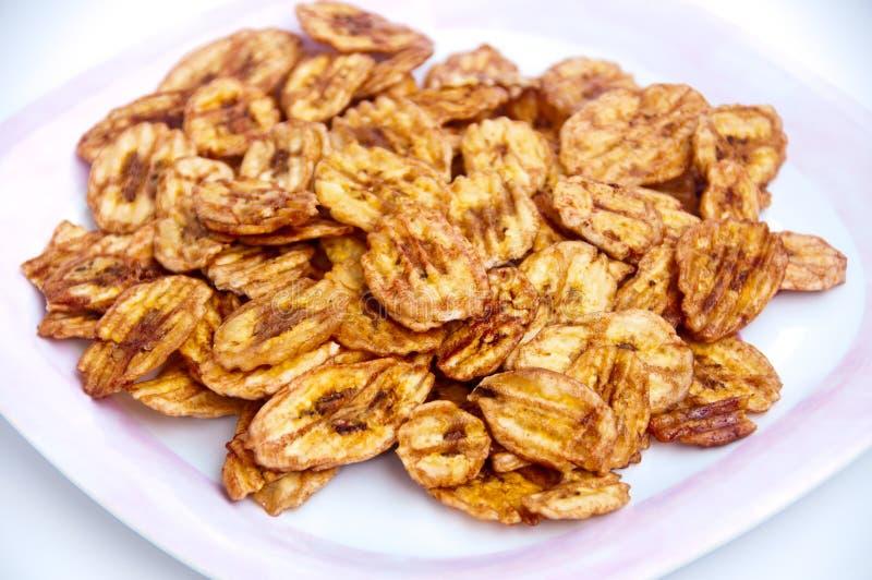 Fried Crispy Banana Stock Photos