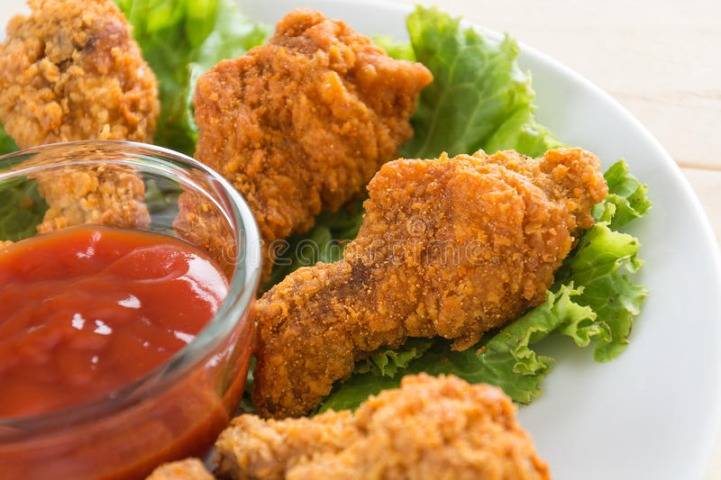 fried crispy chicken stock images