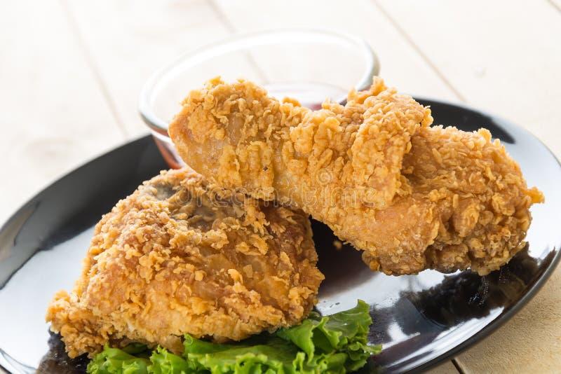 fried crispy chicken royalty free stock photo