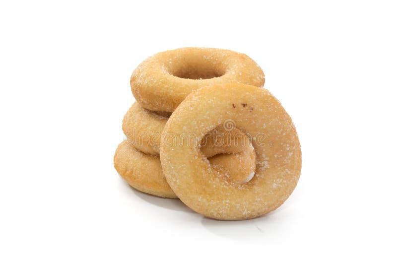 Fried Donuts com cobertura do açúcar fotos de stock royalty free