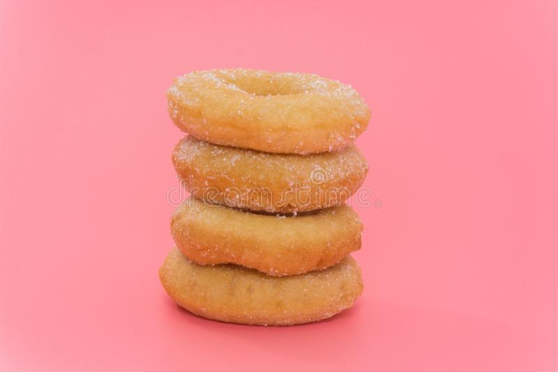 Fried Donuts com cobertura do açúcar fotografia de stock