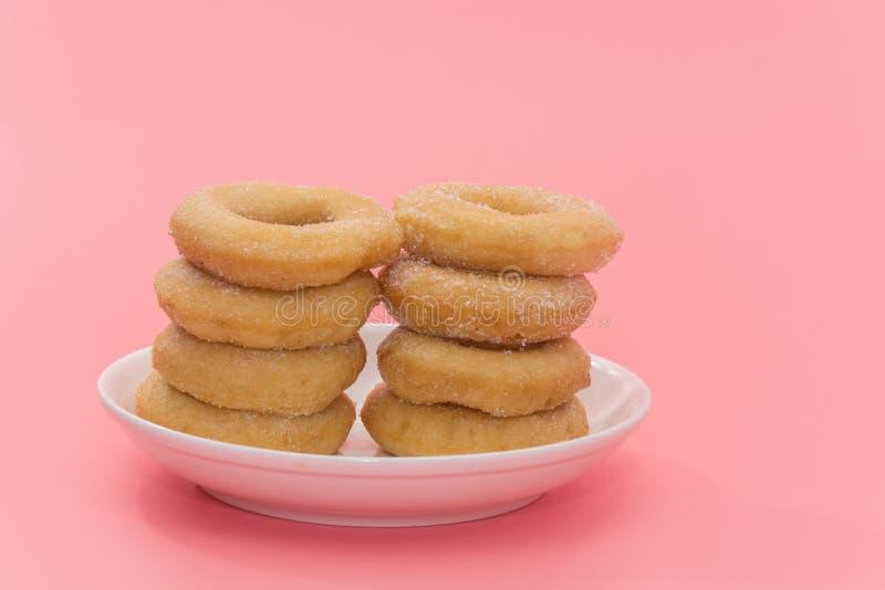 Fried Donuts com cobertura do açúcar fotografia de stock royalty free