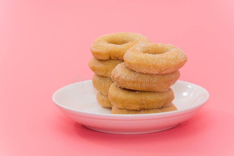 Fried Donuts com cobertura do açúcar imagens de stock