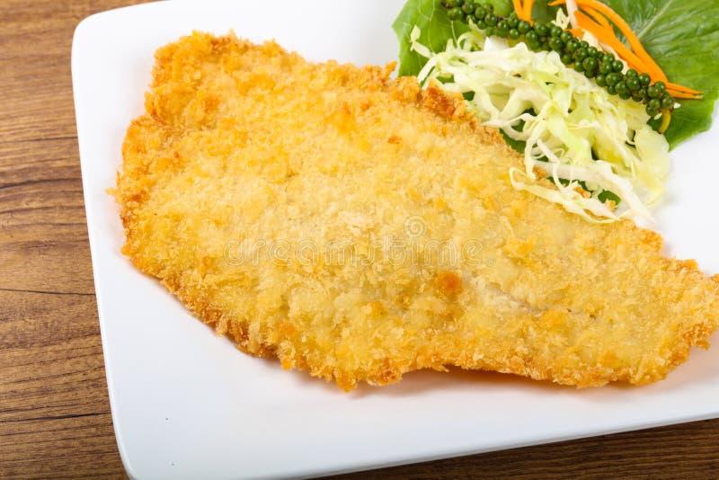 Fried Dory fisk royaltyfria bilder