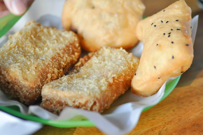 Fried dough , deep-fried dough stick. Thai food royalty free stock images
