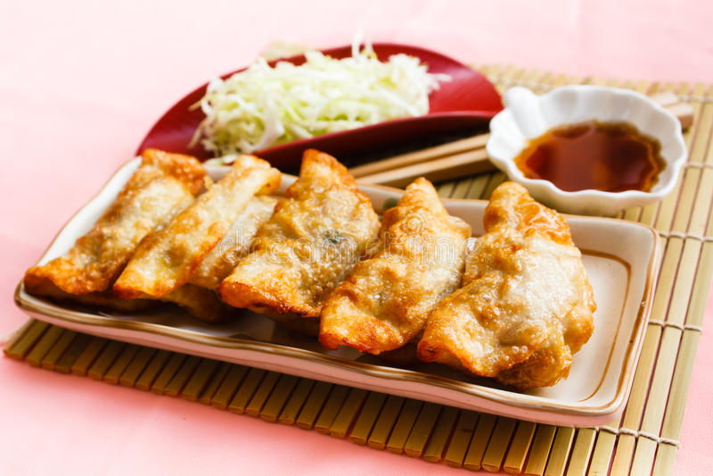 Fried Dumpling - Gyoza fotografía de archivo