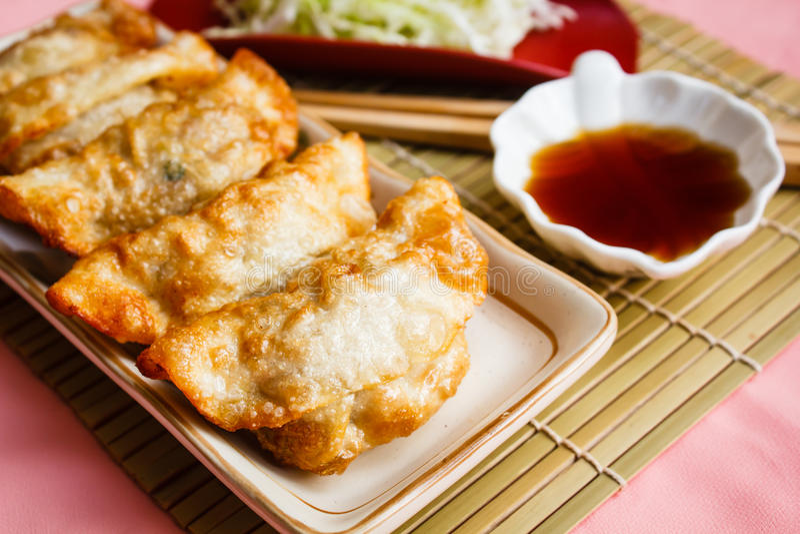 Fried Dumpling - Gyoza imagen de archivo