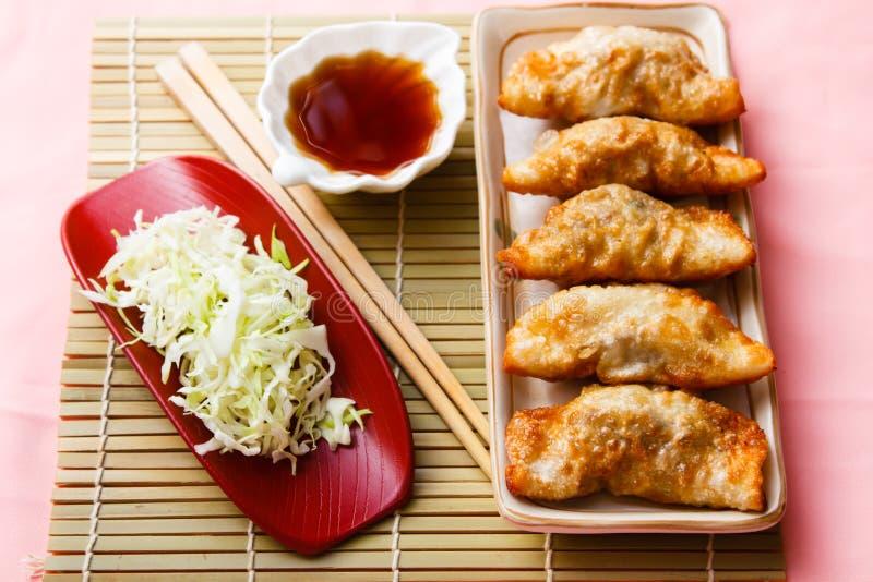 Fried Dumpling - Gyoza foto de archivo