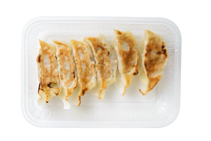 Fried dumpling gyoza royalty free stock photography