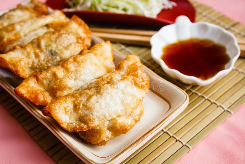 Fried Dumpling - Gyoza. stock image