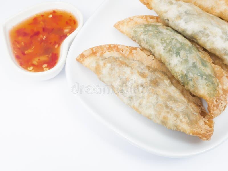 Fried dumplings :chinese food,asian food. royalty free stock photos