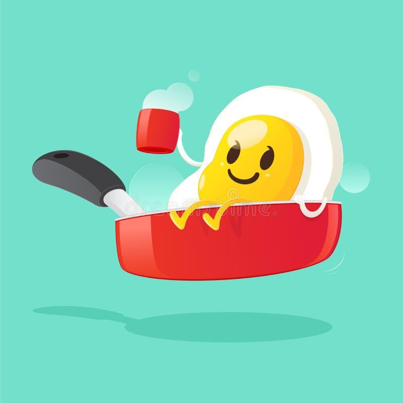 Fried Egg ilustração stock