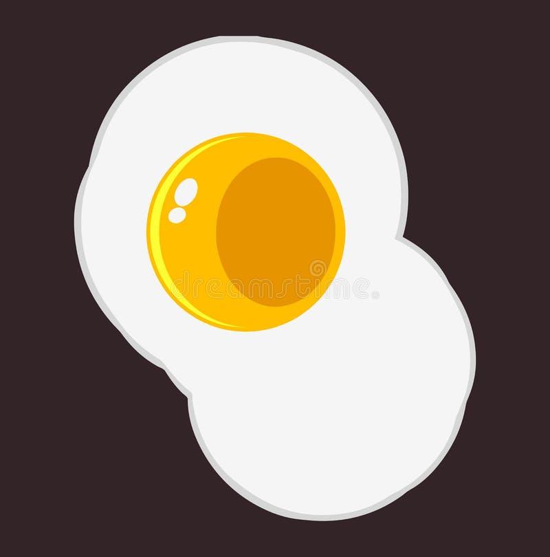 Download Fried Egg stock vector. Image of healthy, illustration - 20381701