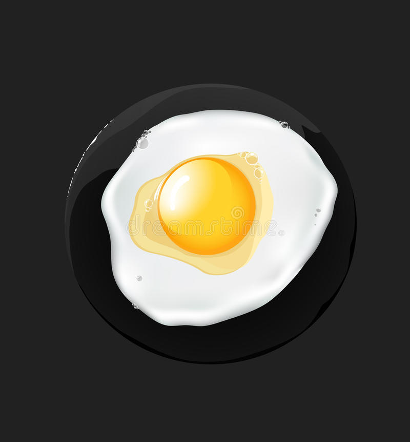 Download Fried egg, stock vector. Image of protein, eggs, black - 24424192