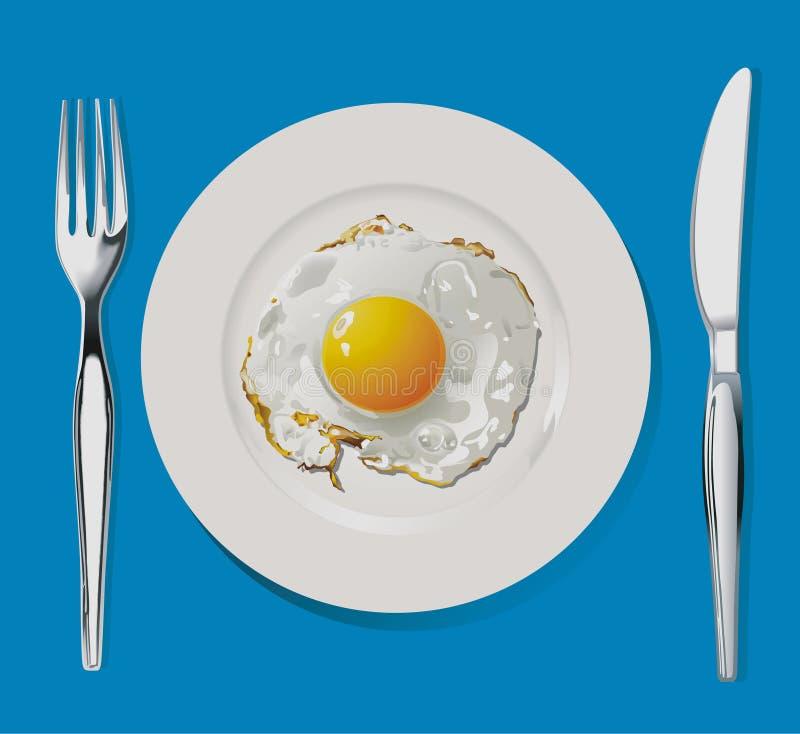 Fried Egg illustration de vecteur