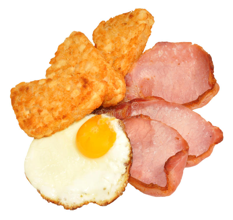 Fried Egg And Bacon Breakfast imagens de stock royalty free
