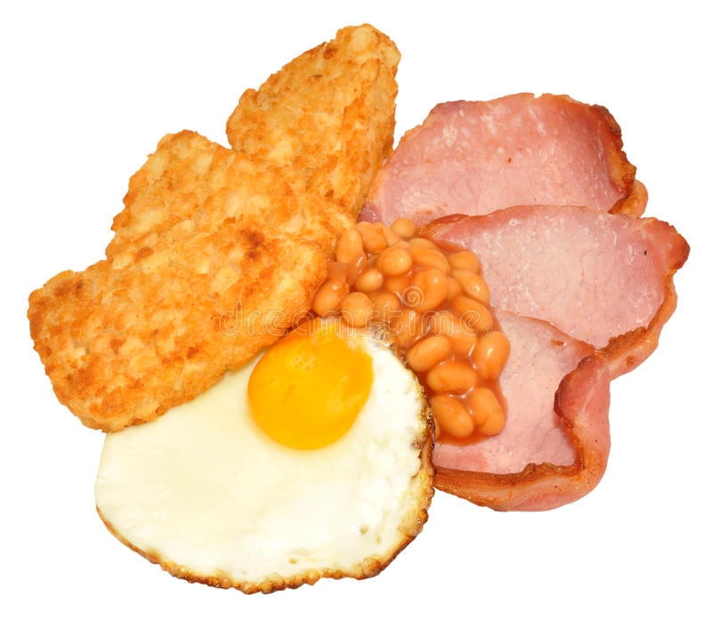 Fried Egg And Bacon Breakfast royalty free stock photography